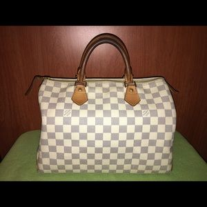 Authentic Louis Vuitton Damier Azur Speedy 30